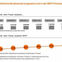 MINT-Studiengänge bei Frauen immer beliebter