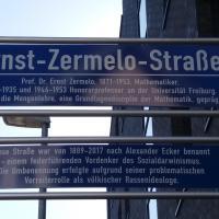 Umtaufe: NS-Regimegegner und Axiomstar Zermelo auf Straßenschild