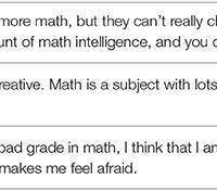Mathekönnen – eine Frage der Einstellung?