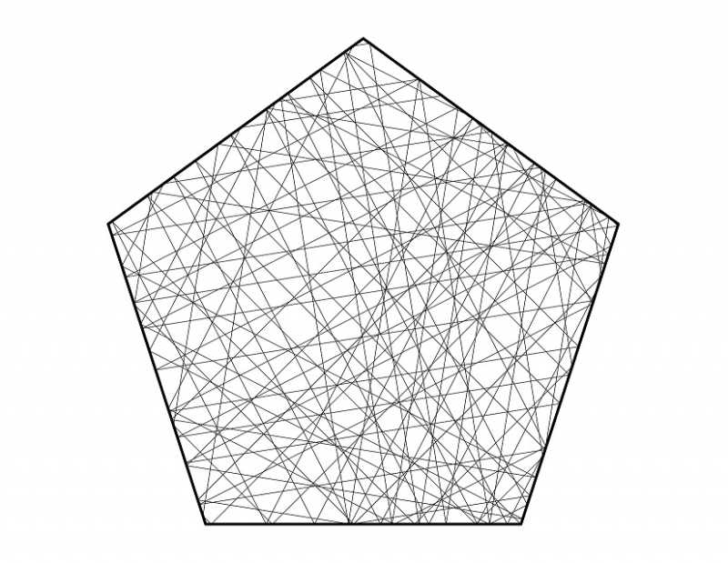 Trajectory on a pentagonal table