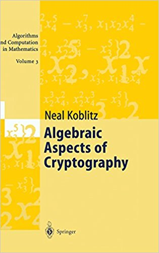 algebraic aspects of cryptography